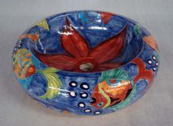 Talavera Rounded Vessel Sink  [ MexicanConnexionForTile.com ] #design  #Talavera #handmade