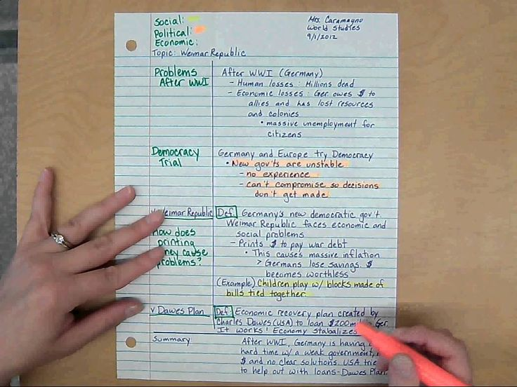 Advanced Cornell Notes