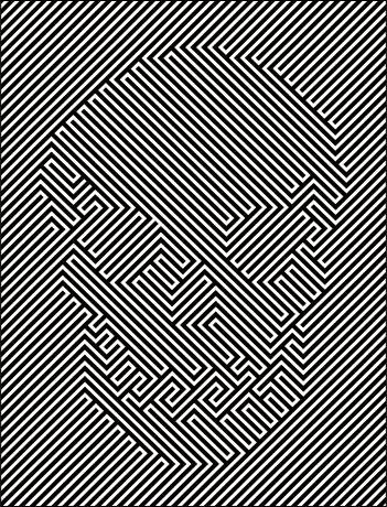 """Mystifying optical illusion                       @yeyocoreart"" - can you imagine the artist trying to generate this, like ~%^o>"