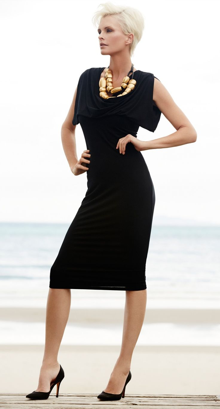 Paula Ryan Prussian Dress Simple, sharp and shaped, the Prussian Dress in MicroModal will easily take you from day to dinner. The ultimate Little Black Dress for Race day!