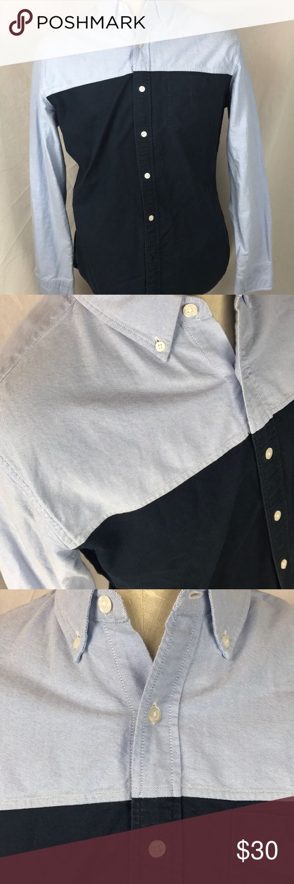 """BONOBOS Men's Slim Fit shirt large color block Shirt in excellent condition.  No notable flaws.  Men's large  Chest:  22.5""""  Length: 28""""  Sleeve:  35""""  Please check measurements for accurate fit.  K Bonobos Shirts Casual Button Down Shirts"""