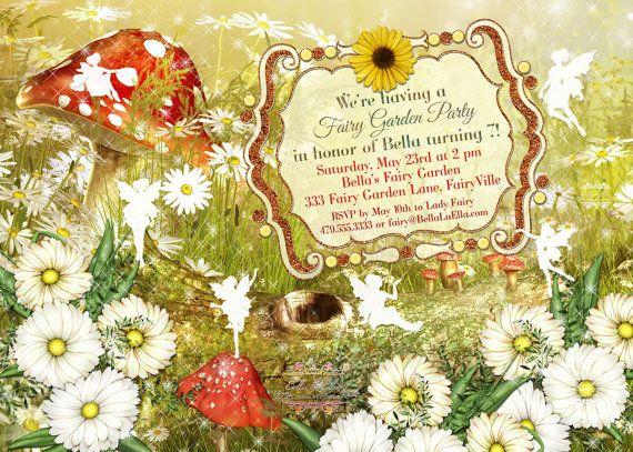 Fairy Invitation, Fairy Party Invitation, Birthday Party Invitations, Fairy Garden Party, Whimsical Invitations