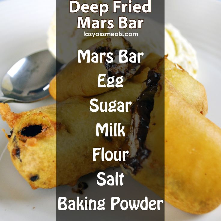 All the ingredients you need to make a tasty deep fried mars bar!