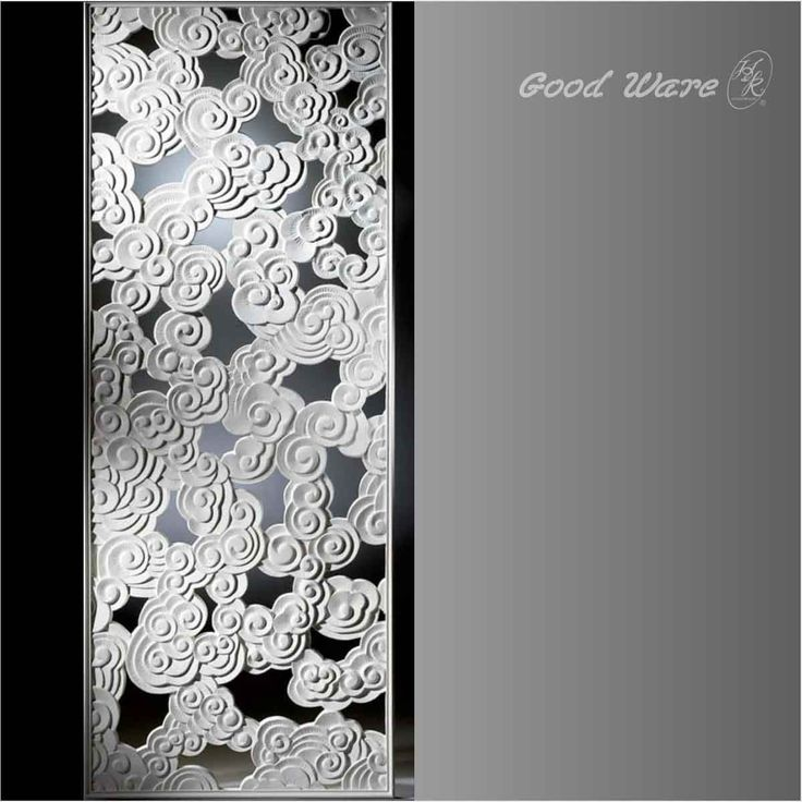 Polyurethane decorative wall dividers for rooms | Pierced Wall Panel by GoodWare Décor