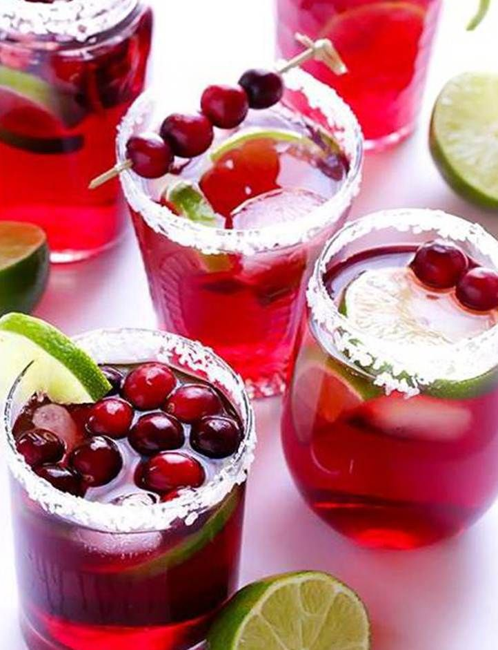 Cranberry Margaritas  A L'Amour' s holiday themed drink.