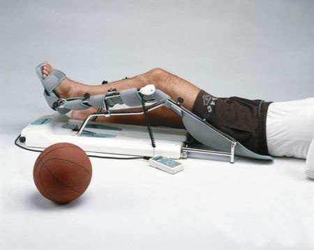 Following a knee replacement, a continuous passive motion (CPM) machine may be used during the beginning phases of rehabilitation. Although costly, the CPM allows for continuous passive movement of the joint without active input from client.