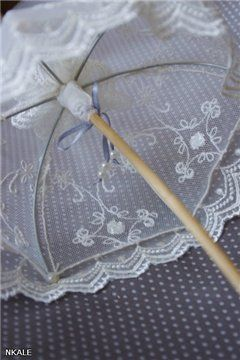 NKALE:-) In the heart of each toy: MK from Nkale: lace parasol