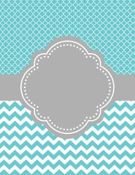 Moroccan and Chevron Binder Covers ~ Two Versions                                                                                                                                                      More
