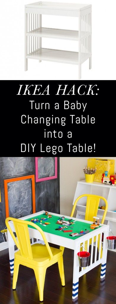 IKEA Hack: Turn a baby changing table into a Lego table!