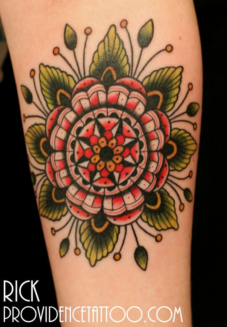 #flower #tattoo by Rick at #providencetattoo