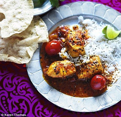 Sri Lankan salmon and tamarind curry (serve with steamed basmati rice and poppadoms)