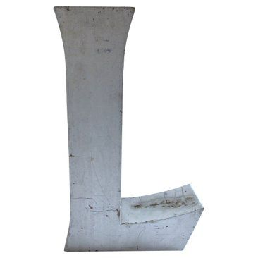 Check out this item at One Kings Lane! Industrial Marquee Letter L