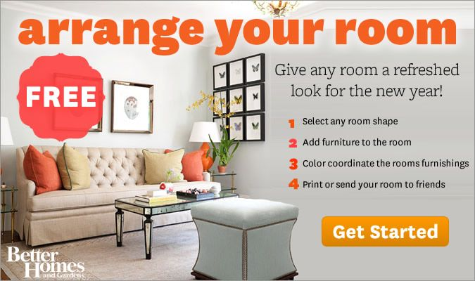 Free online program from Better homes and Garden -Design and arrange a room online. select any room shape, add furniture, color coordinate room's furnishings, print or send room you created to your friends. Very cool.