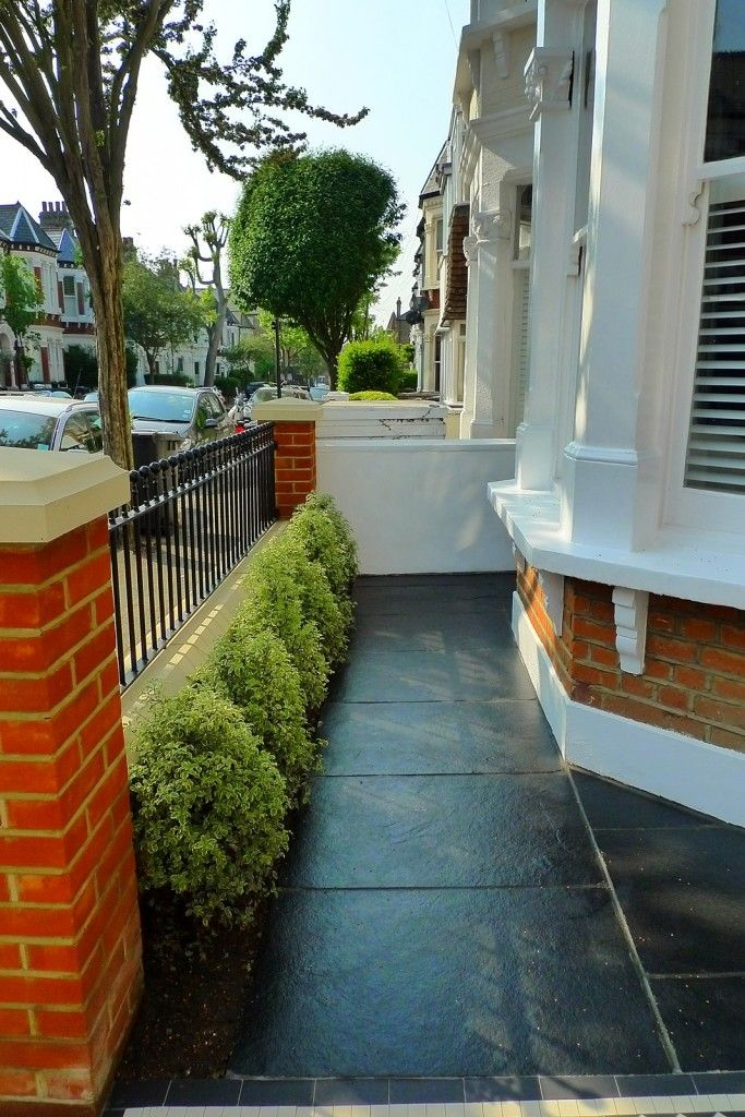 24 best front garden images on pinterest victorian front for Victorian terraced house garden design