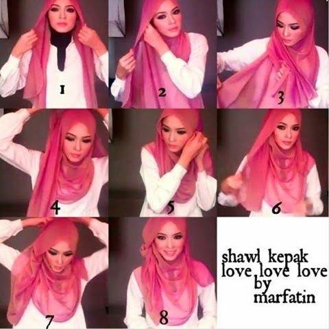 Premium Beautiful Expert: Siti Azlina Osman: Cara Mudah Pakai Shawl