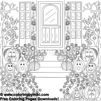 Autumn Halloween Jack O Lantern Coloring Page 1179 Ultimate