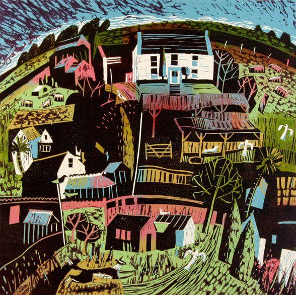 Devon Farmyard by Mary Sumner