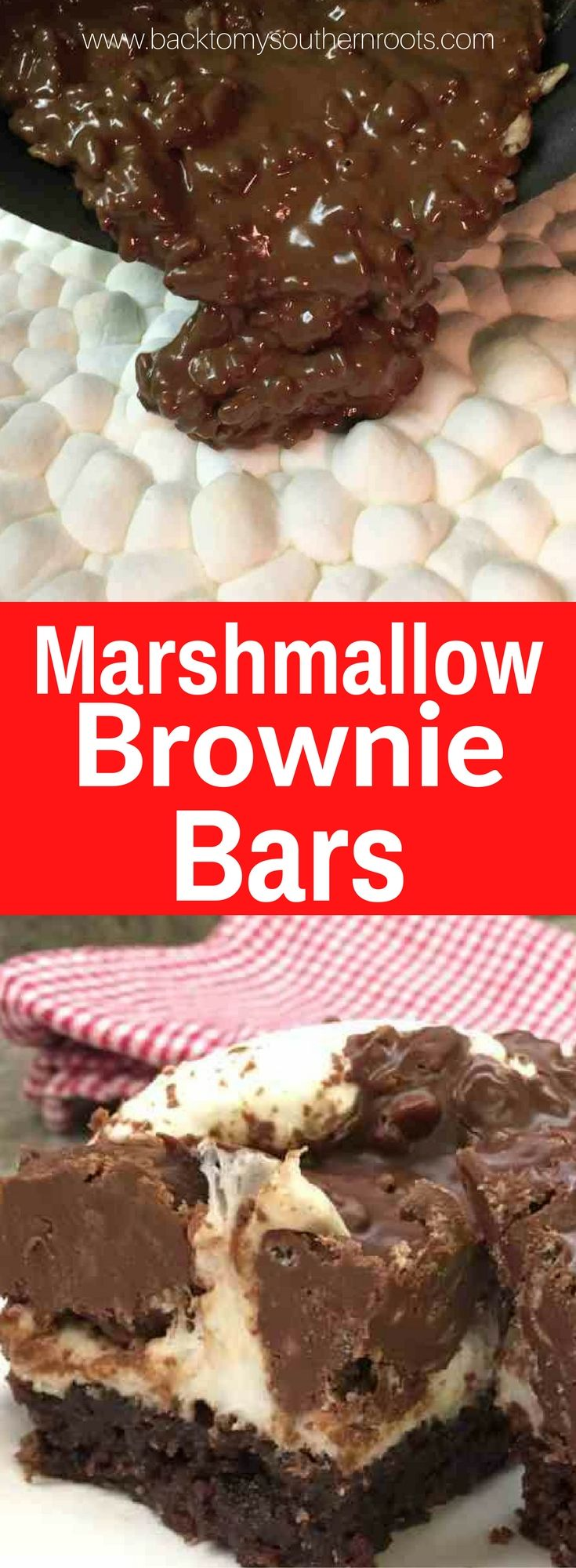 Marshmallow Brownie Bars are a delicious dessert. The combination of chocolate, marshmallow, crispy rice cereal, and brownies are perfect for parties. Marshmallow Brownie Bars are a great recipe for any occasion.