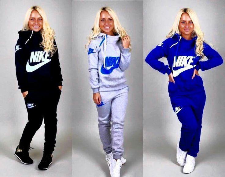 Female Nike hoodie and sweat pants