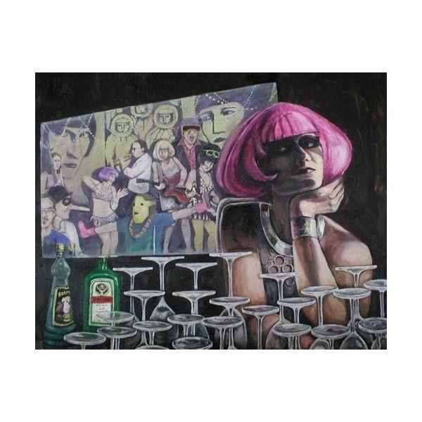 STUCKISM Ella Guru paintings ❤ liked on Polyvore