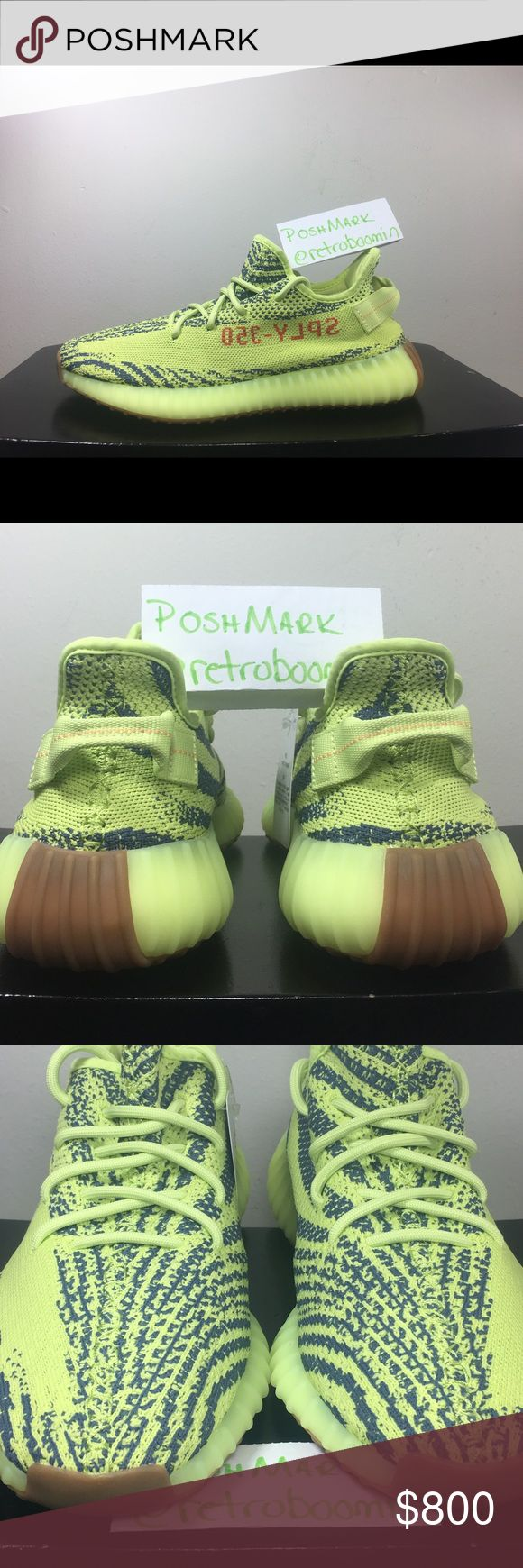 100% Authentic Yeezy Boost 350 Frozen Yellow One of the hottest Yeezy Release to date! This listing is for a pair of Deadstock brand new and original 100% Authentic. MEN'S SIZE 9 and SIZE 7 available which converts to a WOMEMS SIZE 11 or 9  ✅ 100% Authentic ✅ Money Back Guaranteed ✅ Ready to ship NOW ✅ Free 1-3 Day Shipping    **BUY WITH CONFIDENCE**   **ASK ANY QUESTIONS**   **POSH TRANSACTIONS ONLY** This will protect us both from any fraud, scams or fakes     GOOD LUCK🤙 Yeezy Shoes…
