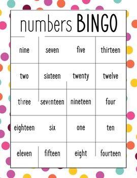 photo relating to Bingo Calls Printable known as Term Bingo Figures 1-20 Wonderful 1st Quality Term bingo
