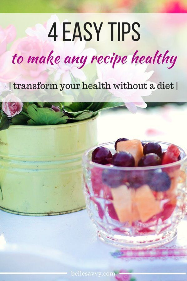 Improve your health without a diet by making every recipe healthier and still delicious | 4 easy replacements to transform meals from BelleSavvy | low carb | gluten free | dairy free