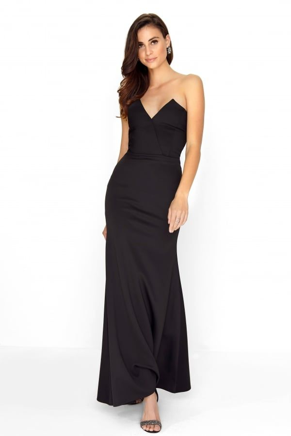 97c0a2979178 Pin by jjfrr jluiyy on Evening maxi | Prom dresses, Dresses, Black bandeau
