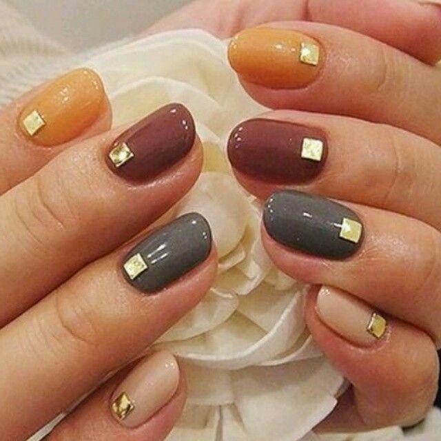 Őszies színkavalkád a körmökön #nail #art #autumn #design