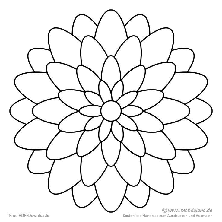 mandala malvorlagen  einfache formen zum ausmalen