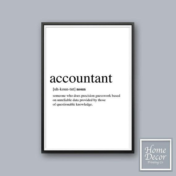 Accountant Definition Cubicle Decor Wall Art Prints Etsy Etsy Art Prints Prints Wall Art Quotes