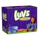 Luvs With Ultra Leakguards Size 4 Diapers 180 Count  (Health and Beauty)By Luvs