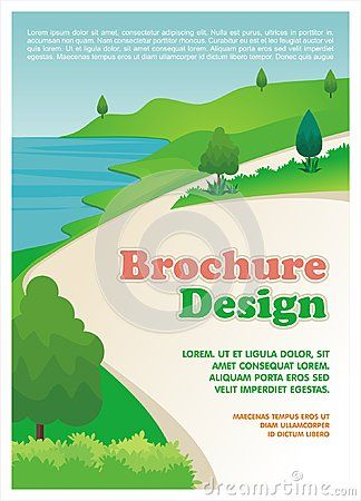 Flyer - Brochure with flat Cartoon style, simple, cute, and lovely design