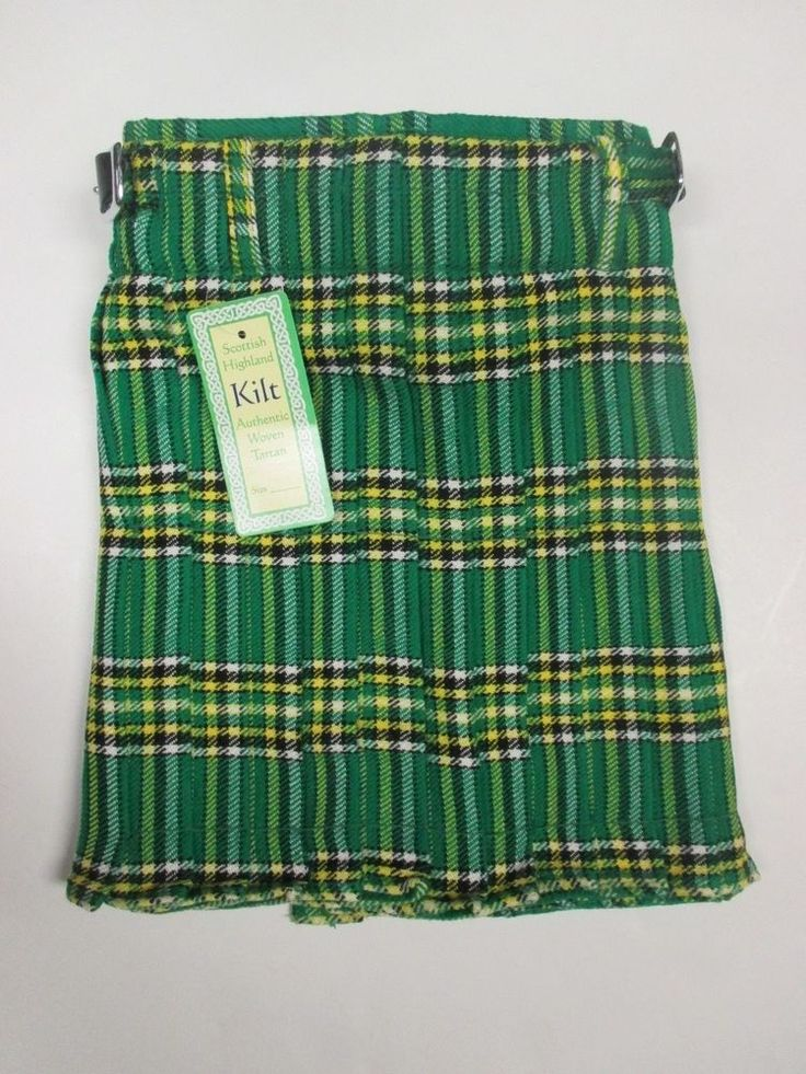Irish Heritage Tartan Childrens Kids Boys Kilt  Waist Size 20 Green #Kiltmart #Kilt
