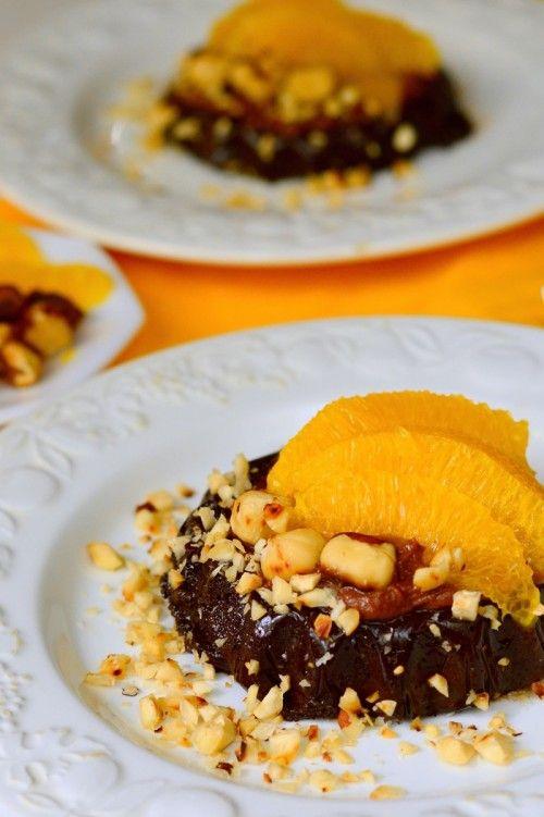Mogyorókrémes-narancsos pite