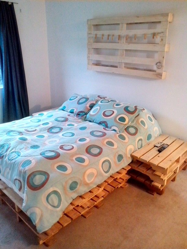 Cama hecha con pallets pallets pinterest pallets for Camas rusticas