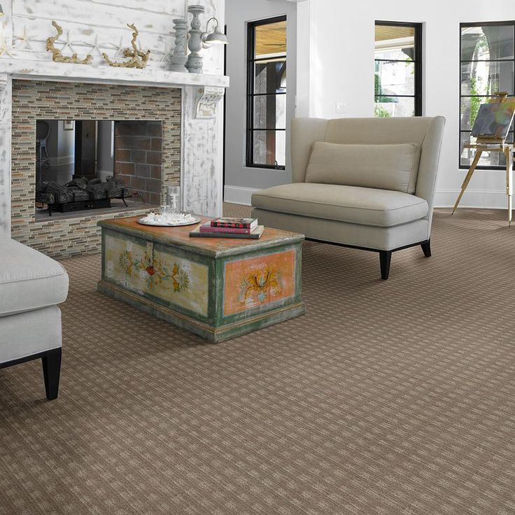 Family Room Carpet Ideas Part - 42: Shop STAINMASTER Feature Buy Boutique Foggy Day Cut And Loop Indoor Carpet  At Lowes.com