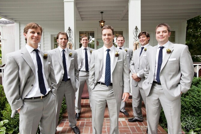 Gray Suit - Navy vs. Blush Tie | Groomsmen | Pinterest | Wedding ...