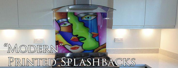 Modern printed Glass kitchen splashback  by Creoglass Design (London, UK). View more glass kitchen splashback designs on www.creoglass.co.uk.  #kitchen #splashbacks