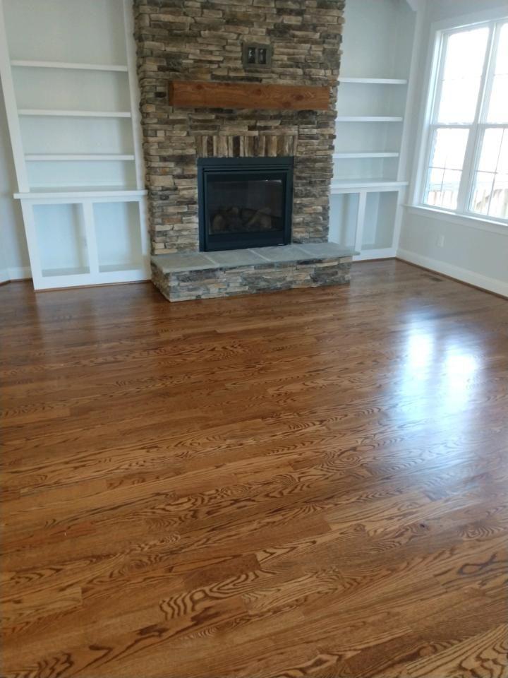 3 1 4 Inch Red Oak Hardwoods In Minwax Duraseal Provencial Stain Hardwood Floors Red Oak Hardwood Floors Wood Floors Wide Plank