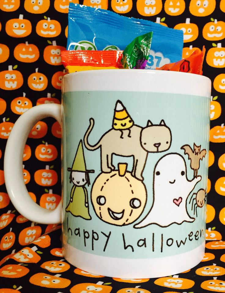 A personal favourite from my Etsy shop https://www.etsy.com/uk/listing/459625918/halloween-mug-full-of-treats-perfect-for