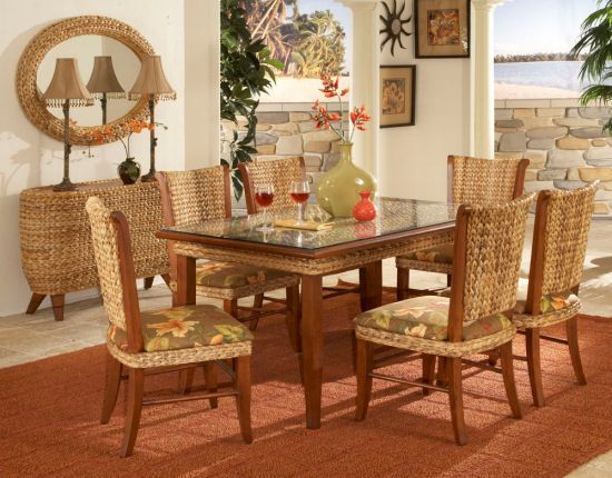 17 Best Images About Indoor Wicker And Rattan Dining Sets