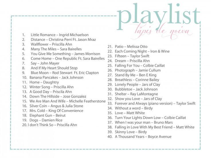 Essas músicas são especiais para quem gosta de LOVE SONGS, assim como a gente. São gostosas pra ouvir no dia-a-dia, quem sabe pra festa do c...