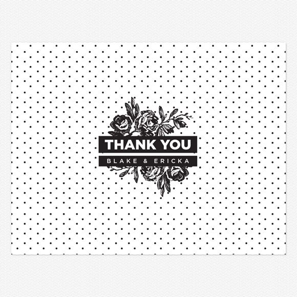 High Contrast Thank you card PDF