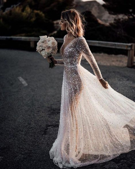 Distinctive and magical marriage ceremony gown