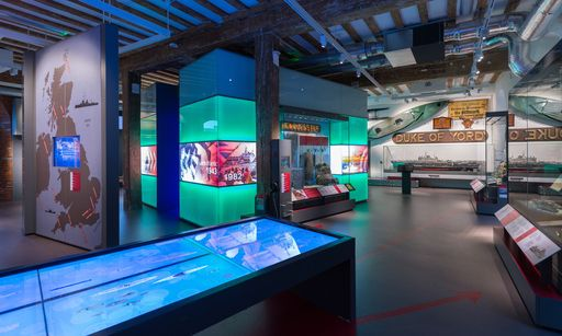 Our interactive timeline, artefact wall, and some of the displays inside the galleries.