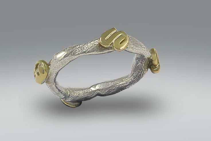 France Roy. Série Clan. Bague. Sterling silver. 18k gold.