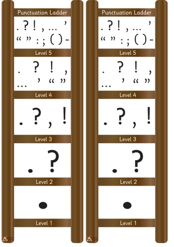 Punctuation display ladder - http://displays.tpet.co.uk/#/viewPost/id559