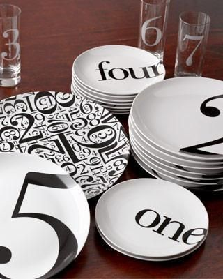 """.pick a number, any number...cute gift to commemorate someone's special """"number"""": Again Numbers, Awesome Dishes, Numbers Letters, Crafty Things, Cool Numbers, Letters Numbers, Numbered Plate, Christopher Jagmin"""