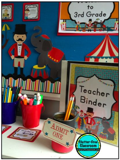 Clutter-Free Classroom: Circus / Carnival Themed Classroom {Ideas, Photos, Tips, and More}